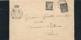 """TAXE T15 10c + SAGE 83 1c Obl """" LYON PREFECTURE 16/12/93 """" Sur Avis De Décès - Lettre - Postmark Collection (Covers)"""