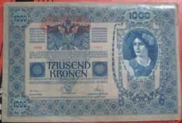 """1000 Kronen 2.1.1902 (WPM 57a) - Overprint / Überdruck """"Deutschösterreich"""" (1919) - Austria"""