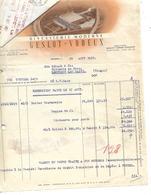 Facture & Traite 1951 / 59 RONCHIN / GESLOT-VOREUX / Biscuiterie - 1950 - ...