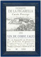 Étiquette De Vin Corse Cuvée Prestige  Calvi Domaine De La Figarella 1993 - Labels