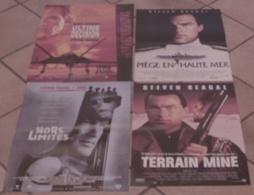 LOT 4 AFFICHES CINEMA FILMS STEVEN SEAGAL ULTIME DECISION PIEGE EN HAUTE MER TERRAIN MINE HORS LIMITES - Posters