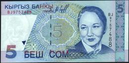 KYRGYZSTAN - 5 Som 1997 {Kyrgyz Banky} UNC P.13 - Kirguistán