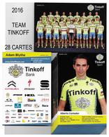 CARTES CYCLISME TEAM TINKOFF 2016 ( 28 CARTES ) - Cyclisme