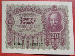20 Kronen 2.1.1922 (WPM 76) - Austria