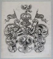 Vignette Héraldique XVIIIème - PRUSSE - Ex-libris
