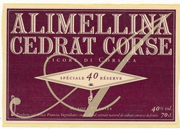 Étiquette Cedrat Corse Alimellina - Etiquettes