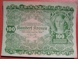 100 Kronen 2.1.1922 (WPM 77) - Austria