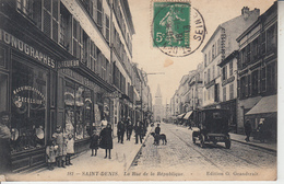 SAINT DENIS - Rue De La République ( Phonographes Journaux Cartes Postales )  PRIX FIXE - Saint Denis