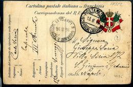 POSTA MILITARE  (1° DIVISIONE CAVALLERIA)  12° BATTERIA SOMEGGIATA  X S GIOVANNI A TEDUCCIO NAPOLI - War 1914-18