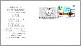 BASE ANTARTICA ESPAÑOLA JUAN CARLOS I. SPD/FDC Barcelona 1998 - Estaciones Científicas