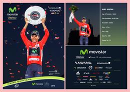 CARTE CYCLISME NAIRO QUINTANA VAINQUEUR TOUR D'ESPAGNE 2016 - Cyclisme
