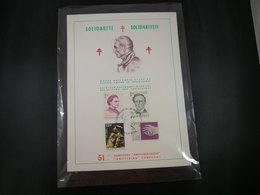 "BELG.1975 1785 1786 1787 & 1788 FDC Filatelic Card Antwerpen : ""Solidarité- Solidariteit"" - 1971-80"