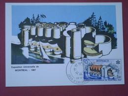 Monaco - Carte Postale Timbrée , 28/04/1967 , Premier Jour D'Emission , Exposition Universelle De Montréal - Postmarks