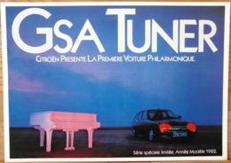 AFFICHE  PUBLICITE  GSA TUNER CITROEN PRESENTE LA PREMIERE VOITURE PHILARMONIQUE 1982 - Automobiles