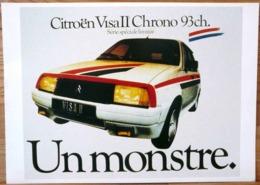 AFFICHE  PUBLICITE CITROEN VISA II CHRONO 93 CH SERIE SPAECIALE LIMITEE UN MONSTRE - Automobiles