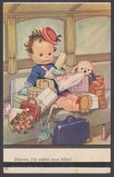 Cpa Illustrateur - Damme, J'ai Oublié Mon Ticket - Thème Train Voyageur Enfants Jouets - Illustrateurs & Photographes