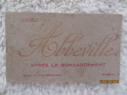 Carnet De 20 CPA : Abbeville (80) Après Le Bombardement - Guerre 1914 - 18 - Abbeville