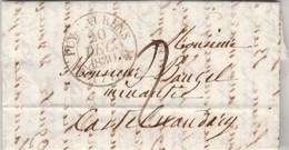 Lettre Cachet PUY LAURENS Tarn 20/12/1830 Taxe Manuscrite  à Castelnaudary Aude - Dateur Au Verso - 1801-1848: Precursors XIX