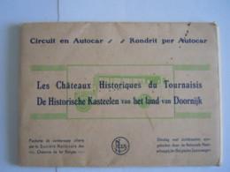 Les Châteaux Historiques Du Tournaisis Circuit En Autocar 10 Cartes-vues Offerte Par Chemin De Fer Belges - Tournai