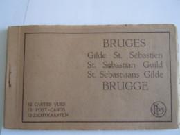 Bruges Brugge Gilde St. Sébastien Sebastian Guild Sebastiaans Gilde 12 Cartes-vues Zichtkaarten Nels Maison Coudeville - Brugge