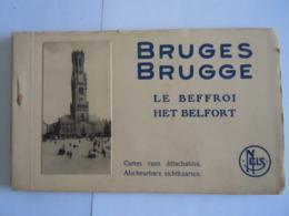 Bruges Brugge Le Beffroi Het Belfort 10 Cartes Vues Zichtkaarten Carnet Beiaard Carillon Carillonneur Bourdon - Brugge