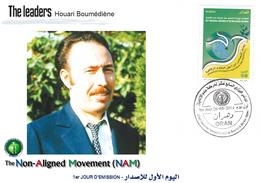DZ Algeria 1687 FDC Houari Boumedienne President Of Algeria Famous Célébrités Non Aligned Movement NAM - Famous People