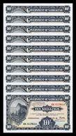 Gibraltar Lot Bundle 10 Banknotes 10 Shillings / 50 Pence 1934 (2018) Pick New SC UNC - Gibraltar