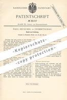 Original Patent - Paul Reuschel , Crimmitschau , 1885 ,  Radiervorrichtung   Walze Mit Radierer   Radiergummi   Radieren - Historische Dokumente