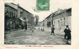 ARTIGAT écrit Artizat SUR LEZE - Rue Principale Les Oies En Liberté Ecrit à M Pons Percepteur De Lanta - France