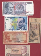 Pays Du Monde 40 Billets Dans L 'état Lot N °8 - Kilowaar - Bankbiljetten