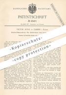 Original Patent - Victor Avril , Zabern / Elsass , 1888 , Schleifmaschine Für Ovale Scheiben   Schleifen , Schleiferei - Historische Dokumente
