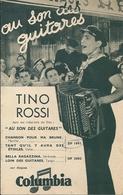 """Petit Catalogue Disques Columbia Tino Rossi """"Au Son Des Guitares"""" Tous Les Succès Populaires De Tino Rossi - Vieux Papiers"""