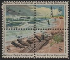 United States (USA) 1972 National Parks Centennial-Centenaire Parcs Nationaux (II) Cap Beach ** - United States