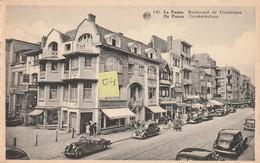 La PANNE  Boulevard De Dunkerque Très Belle Animation Avec Automobiles Triporteur Enseignes Café Couture Poissonnerie - Belgique