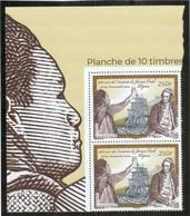 VV14 - Polynésie Française - James COOK Et Tupaia En Paire. Grand Coin De Feuille Illustré TUPAIA - - Polynésie Française