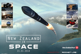 NEW ZEALAND 2018, NEW ZEALAND IN SPACE Sheetlet** - Unused Stamps