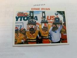 Ernie Irvan Card - Car Racing - F1