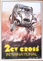 AFFICHE CITROEN 2 CV CROSS INTERNATIONAL - Automobiles