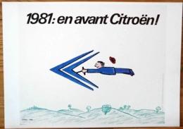 AFFICHE PUBLICITE SAVIGNAC 1981 EN AVANT CITROEN - Automobiles