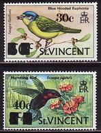 St. Vincent, 1973, Birds, Overprint, 2 Stamps - Other