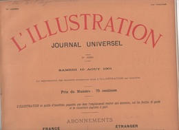 L'ILLUSTRATION 10 08 1901 - DIRIGEABLE SANTOS-DUMONT - MORT IMPERATRICE ALLEMAGNE FREDERIC - KRONPRINZ - TONKIN - ROUEN - L'Illustration