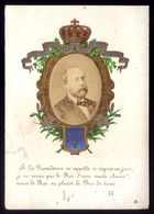 Roi HENRI V Comte De Chambord. Format CDV. Photo 1875 Collée Dans Médaillon. Crowned Card King Of France Legitimist - Fotos