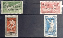 E11 Lebanon 1924 Beautiful Complete Set Olympic Games Ovpt 1 Langauge (French)- MLH - Very High Catalogue Values - Lebanon
