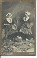 Deux Pêcheuses De Croix De Vie-photo Boutain Et Fils-16,50 Sur 10,50cm - Personas Anónimos