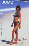Télécarte Japon * EROTIQUE *   (6414) JOMO  EROTIC PHONECARD JAPAN * TK * BATHCLOTHES * FEMME SEXY LADY LINGERIE - Moda