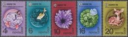 RUSSIE 1974 5 TP Expo '74 N° 4030 à 4034 Y&T Neuf ** - Ungebraucht