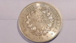 Piece 50 Francs Argent Hercule - France 1976 - France