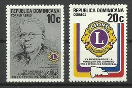 DOMINICAN REPUBLIC  1979  LIONS CLUB SET MNH - Dominicaine (République)