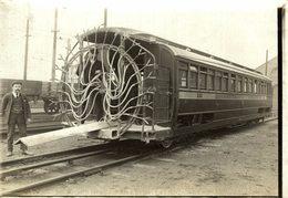 SEE EXPLANATION ON THE BACK   Train Railway Trein   16*12CM Fonds Victor FORBIN 1864-1947 - Trenes