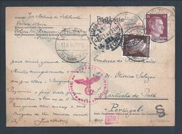 Umlaufpostkarte Von Uelzen Hannover Um 1944. Hitler. Postcard Censored From Uelzen Hanover. Salazar. 2ª World War. 2sc. - Alemania